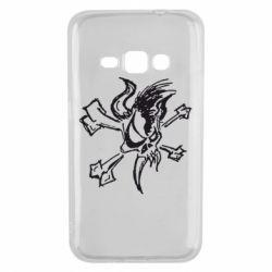 Чехол для Samsung J1 2016 Metallica Scary Guy
