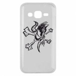 Чехол для Samsung J2 2015 Metallica Scary Guy - FatLine