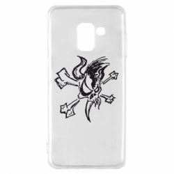 Чехол для Samsung A8 2018 Metallica Scary Guy