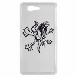 Чехол для Sony Xperia Z3 mini Metallica Scary Guy - FatLine
