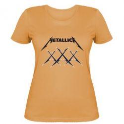 Женская футболка Metallica XXX