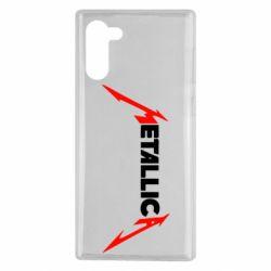 Чехол для Samsung Note 10 Металлика