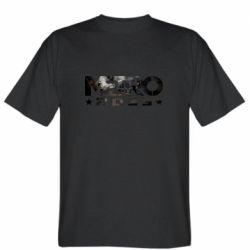 Мужская футболка Metro 2033 text