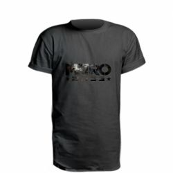 Удлиненная футболка Metro 2033 text