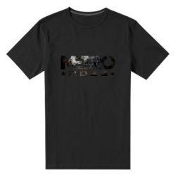 Мужская стрейчевая футболка Metro 2033 text