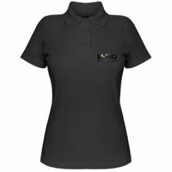 Женская футболка поло Metro 2033 text