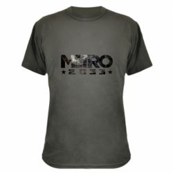 Камуфляжная футболка Metro 2033 text