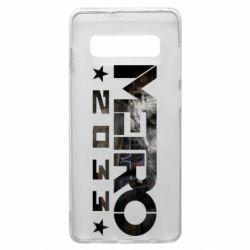 Чехол для Samsung S10+ Metro 2033 text