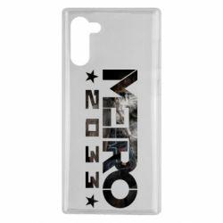 Чехол для Samsung Note 10 Metro 2033 text