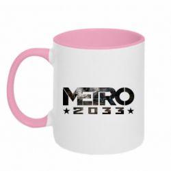 Кружка двухцветная 320ml Metro 2033 text