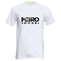 Мужская спортивная футболка Metro 2033 text