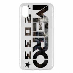 Чехол для iPhone X/Xs Metro 2033 text