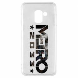 Чехол для Samsung A8 2018 Metro 2033 text