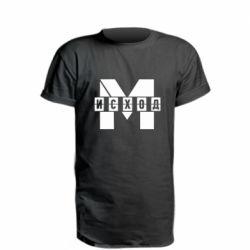 Подовжена футболка Метро результат міні логотип