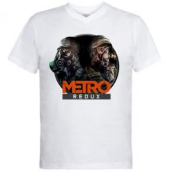 Мужская футболка  с V-образным вырезом Metro: Redux