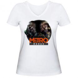 Купить Женская футболка с V-образным вырезом Metro: Redux, FatLine