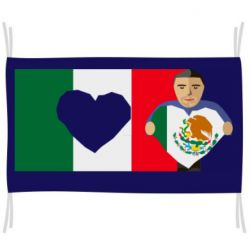 Флаг Mexican flag and president