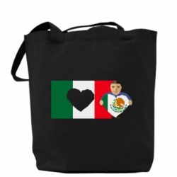 Сумка Mexican flag and president