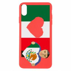 Чехол для iPhone X/Xs Mexican flag and president
