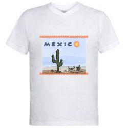 Чоловіча футболка з V-подібним вирізом Mexico art