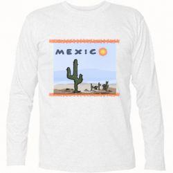 Футболка з довгим рукавом Mexico art