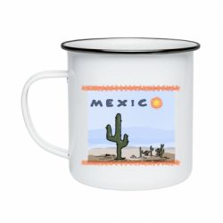 Кружка емальована Mexico art