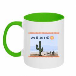 Кружка двоколірна 320ml Mexico art