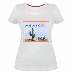 Жіноча стрейчева футболка Mexico art