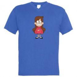 Мужская футболка  с V-образным вырезом Мэйбл Пайнс - FatLine