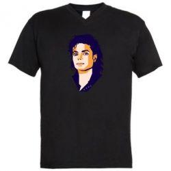 Чоловіча футболка з V-подібним вирізом Michael Jackson Graphics Cubism
