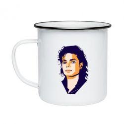 Кружка емальована Michael Jackson Graphics Cubism