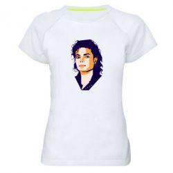 Жіноча спортивна футболка Michael Jackson Graphics Cubism