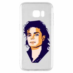 Чохол для Samsung S7 EDGE Michael Jackson Graphics Cubism