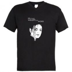 Чоловіча футболка з V-подібним вирізом michael's wealth and woes