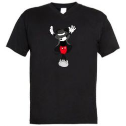 Мужская футболка  с V-образным вырезом Mickey Jackson