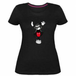 Женская стрейчевая футболка Mickey Jackson