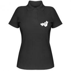 Купить Женская футболка поло Mickey Mouse Hands Chop-chop , FatLine
