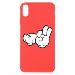 "Чехол для iPhone Xs Max Mickey Mouse Hands ""Chop-chop"""