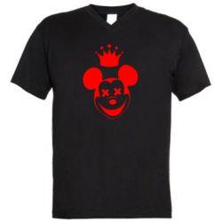 Мужская футболка  с V-образным вырезом Mickey Mouse Swag