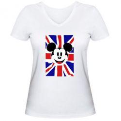 Жіноча футболка з V-подібним вирізом Mickey Swag