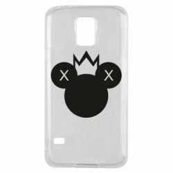 Чохол для Samsung S5 Mickey with a crown