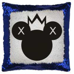 Подушка-хамелеон Mickey with a crown