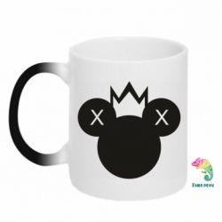 Кружка-хамелеон Mickey with a crown