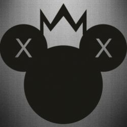 Наклейка Mickey with a crown