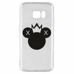 Чохол для Samsung S7 Mickey with a crown