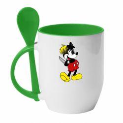 Кружка з керамічною ложкою Mickey XXXTENTACION
