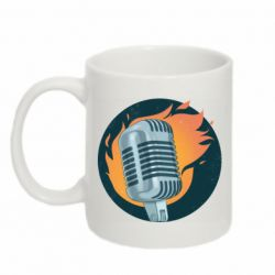 Кружка 320ml Microphone and fire