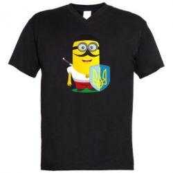 Чоловіча футболка з V-подібним вирізом Mignon Cossack Patriot