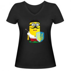 Жіноча футболка з V-подібним вирізом Mignon Cossack Patriot
