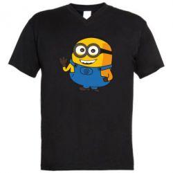 Чоловіча футболка з V-подібним вирізом Mignon smiles